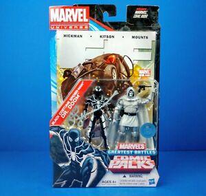 Marvel Universe BLACK COSTUME SPIDER-MAN & DR. DOOM Greatest Battles Comic Packs