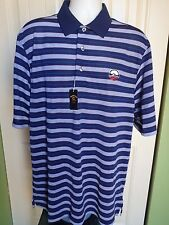Men's Golf Polo Shirt sz L  Short Sleeves Multi color Poly Blend LOGO-? NWT
