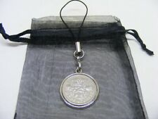 1957 Lucky Sixpence Mobile Phone / Handbag Charm - Nice Birthday Present