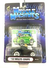 Muscle Machines 1933 33 Willys Coupe Street Rod Black Car Die Cast 1/64 Scale