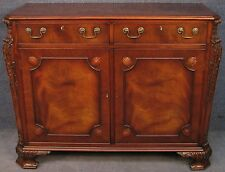 Gostin Carved Flame Mahogany Side Cabinet Small Sideboard