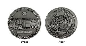 RAAF Fire and Rescue Rosenbauer Panther Challenge Coin - 45mm