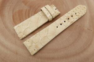 22mm/20mm Beige Genuine PYTHON Skin Leather Watch Strap Band Handmade
