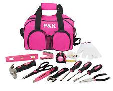 77 teiliges Werkzeugset Pink Tasche Werkzeugkiste Werzkzeugkasten