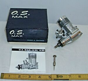O.S. MAX H35 RC MODEL GAS AIRPLANE TETHER CAR ENGINE BOXED UNUSED 1960s