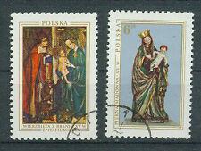 Polen Briefmarken 1976 Weihnachten Mi.Nr.2473+2474