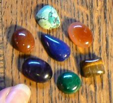 Real Gemstone Chakra set of 7 - 10 grams New Age Chakra Healing Energy Intention