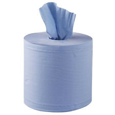 Quality 2 ply centrefeed BLUE rolls 130m L / 18cm W - Perforated - discount