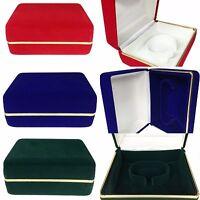 NEW Quality Velvet Watch Bracelet Bangle Jewelry Presentation Box Storage Case