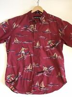 Reyn Spooner Hawaiian Aloha Men's Shirt Surf Theme
