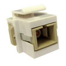 AVU- White Keystone SC Fiber Optic Network Coupler
