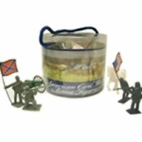 AMERICAN CIVIL WAR ACTION FIGURE TOY SOLDIER TUB GETTYSBURG CANNON HORSES MORE