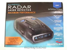 WHISTLER CR97 INTERNATIONAL GPS RADAR LASER DETECTOR FOR EU UK AU RU US CA ASIA