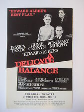 1967 vtg A Delicate Balance old POSTER Jessica Tandy Hume Cronyn Philip Bourneuf
