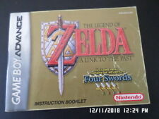 Legend Of Zelda Link To Past 4 Swords (Gameboy Advance) GBA Manual Only. NO GAME