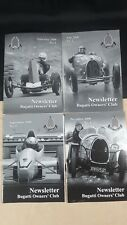 BUGATTI NEWSLETTER MAGAZINE FULL YEAR 4 ISSUES 2008