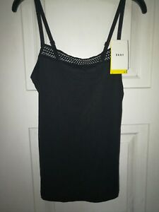 DKNY Womens Size Medium Lace Top Cami Tank Color Black