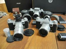 Praktina  FX + 2A Sammlung 3 Kameras 5 Objektive 6 Sucher Langfilmmagazin
