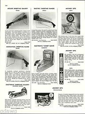 1956 ADVERT Marx Roberts General Molds Arcade Shooting Gallery Electronic