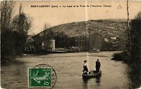 CPA PORT LESNEY Le Loue et la Tour de l'Ancienne Abbaye (446868)