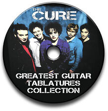 THE CURE INDIE ROCK GUITAR TABS TABLATURE SONG BOOK SOFTWARE CD