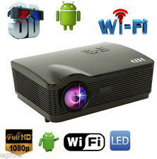 Android WiFi Full HD LED Home theater TV Projector Proiettore 3D VIDEOPROIETTORE