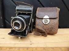 Vintage Balda 'Baldax' folding camera + case.Meyer Gorlitz Trioplan 7.8cm  lens