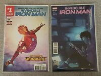 Invincible Iron Man #1 2nd printing & 2 Piper Variant - Riri Williams - VF/NM