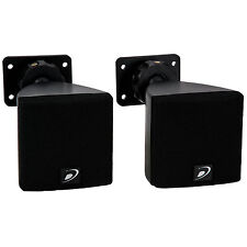 "Dayton Audio SAT3B 3"" Cube Speaker Pair Black"