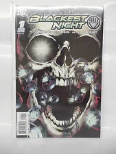 Blackest Night 1 DC Comic Book First Issue Green Lantern Rings Death Skull Cover
