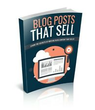 NEW Blog Posts That SellE BOOK PDF WITH RESELL RIGHTS DELIVERY 12hrs