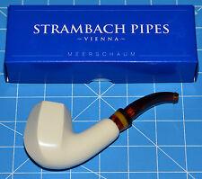 OCTO ZEBRA Handmade MEERSCHAUM pipe by STRAMBACH Austria (bauer) NEW 9mm Filter☦