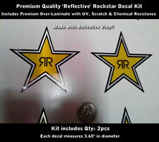 Rockstar Decal Kit 2pcs Reflective and Laminated High Gloss Premium Quality 0098
