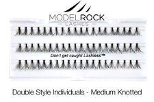 MODELROCK LASHES Double Style Individual False Eyelashes Medium Knotted eye lash
