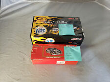 Lot of 2 1:24 Diecast Action Racing Coin Bank Lock Rusty Wallace Miller Cars