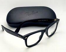 New RAY-BAN Rx-able WAYFARER Eyeglasses RB 4340-V 2000 50-22 Black Frames Italy