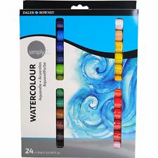 Daler Rowney Simply Watercolour Paint 24x12ml Tube Set