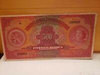 CZECHOSLOVAKIA 500 Korun 1929 P24s SPECIMEN VF/XF .Fancy S.N 1999 8 7