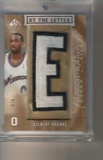 "07/08 UD SP Game Used Gilbert Arenas BY THE LETTER FULL ""E"" PATCH SP #5/6 RARE !"