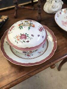 Soupiere Bol A Bouillon Porcelaine Chine Compagnie Des Indes XVIIIe Famille Rose