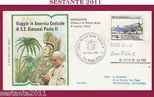 W507 VATICANO FDC ROMA GIOVANNI PAOLO II WOJITYLA  VISITA IN HONDURAS 1983