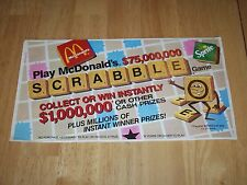 Vintage McDonald's Scrabble Game Board 1989