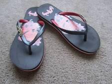 Ed Hardy Flip Flops True Love Sz. 1/2 Sandals