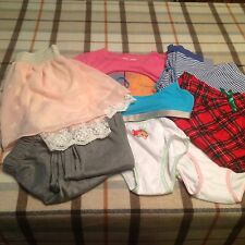 Girl's pajama pants, skirt, t-shirt, panties new size 8-10-12 L mix lot