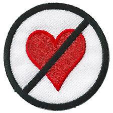 Ecusson patche No Love patch Célibataire thermocollant brodé