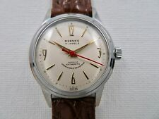 Mens Vintage Swiss Made Military Style BRENKO Manual Wind Watch 17 Jewels