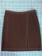 Women's Express NWT Career/Work Brown Skirt w/ Contrasting Stitching Size 7/8