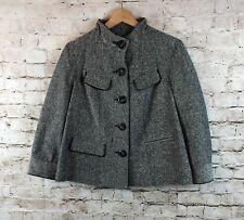 Women's Jones New York Sport Small Jacket Blazer 3/4 Sleeve Black Tweed Career S