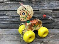 Vintage 1965 Fisher Price Prancy Pony Horse # 617 Toddler Pull Toy