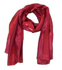 Damen rote gestreift Schal Wrap Schal Stahl Schals Frauen Mädchen Kleid Geschenk...